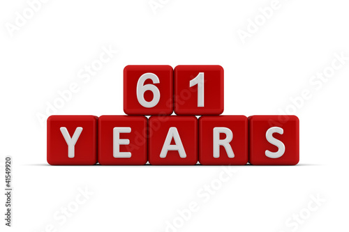 Poster  Red letter cubes 61 years