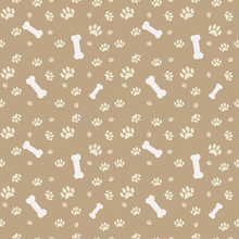 Background With Dog Paw Print ...