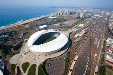 pogled iz zraka na grad Durban, Južna Afrika
