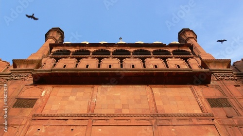 Montage in der Fensternische Delhi Red Fort