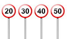 Speed Limit Signs.