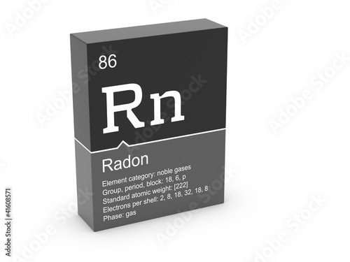 Fényképezés Radon from Mendeleev's periodic table