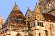 Dächer Der Kathedrale Von Autun, Burgund, Frankreich