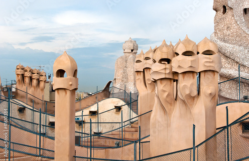 Casa Mil - Roof Architecture - Barcelona, Spain.