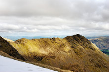 Sharp Edged Ridge Leading To A Peak