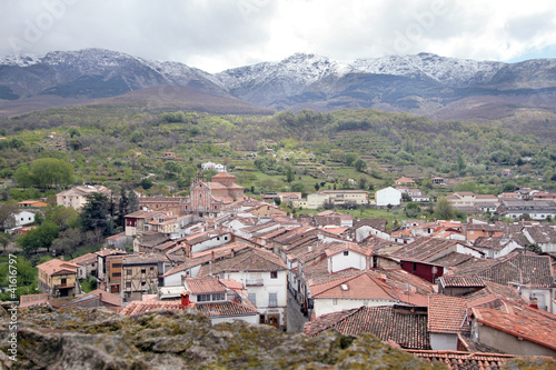 Vista parcial de Hervás, Cáceres, España