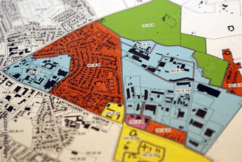 Obraz City planning - fototapety do salonu
