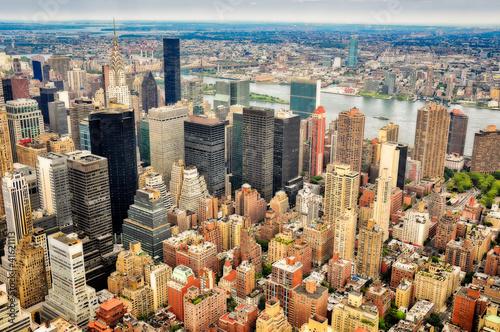 Papiers peints Barcelona New York skyscrapers bird view
