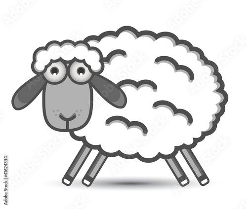 Fotobehang Boerderij sheep