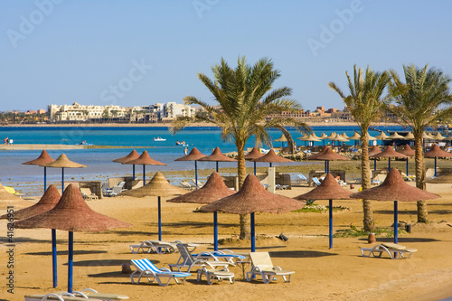Foto-Leinwand - Beach in Egypt