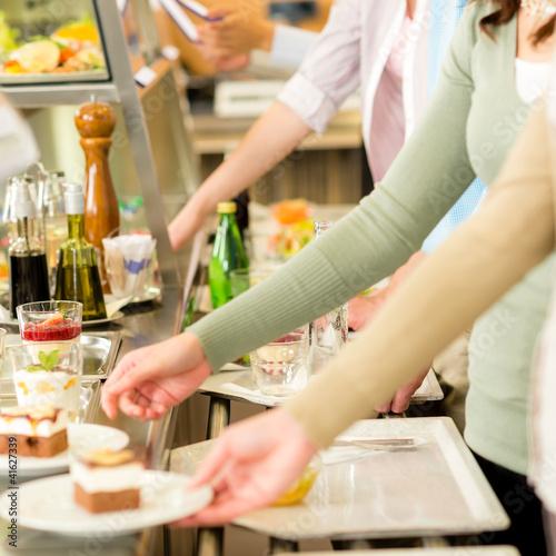 Foto op Aluminium Buffet, Bar Dessert at cafeteria self-service canteen