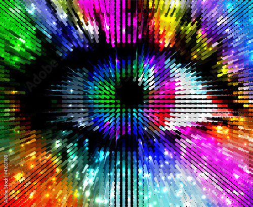 Foto op Aluminium Pixel artistic colorful eye, abstract illustration