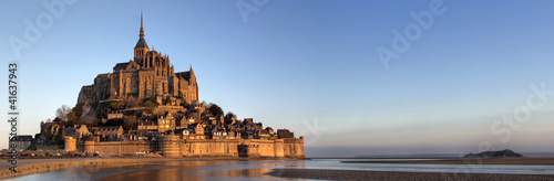 Canvas Print Panoramic view of Mont Saint Michel