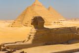 Sfinks i piramidy w Gizie