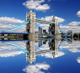 Famous Tower Bridge in London, England - 41642324