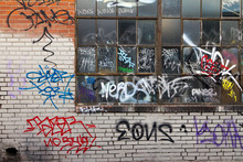 Grungy Alley With Graffiti In Denver