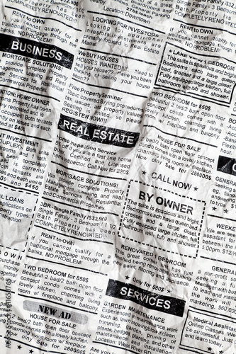 Printed kitchen splashbacks Newspapers Crumpled Newspaper