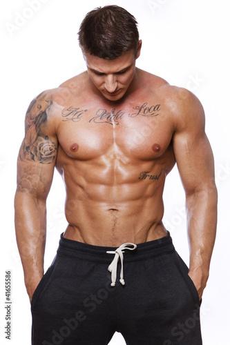 Foto-Doppelrollo - Image of muscle man (von Fxquadro)