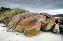 Granite Boulders Under Storm C...