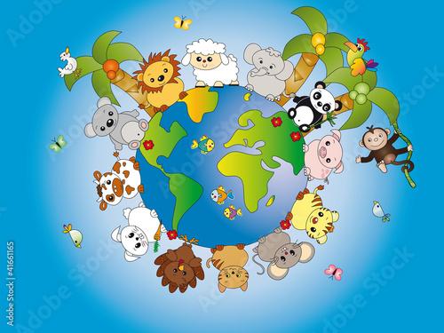 Obraz premium świat zwierząt
