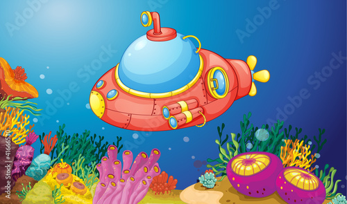 Foto op Plexiglas Onderzeeer submarine