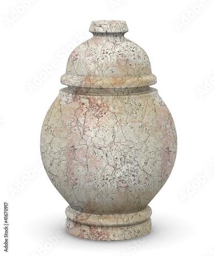 Foto 3d render of urn for ashes