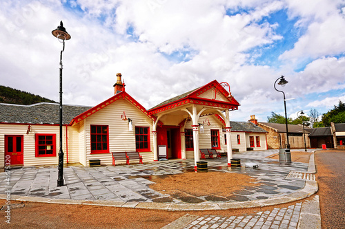 The Royal Ballater railway station in Aberdeenshire, Scotland Fototapet