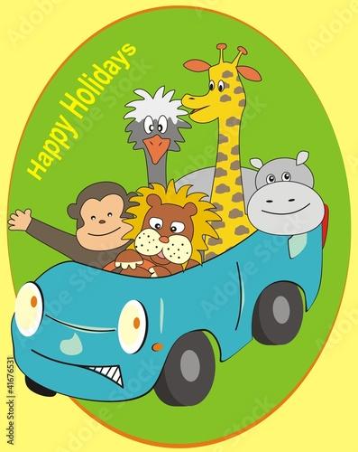 Poster de jardin Zoo happy holidays