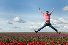 Happy Dutch Tulip Fields