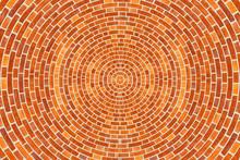 A Circular Brick Pattern Backg...