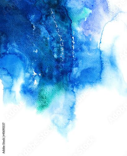 Niebieska akwarela streszczenie ręcznie malowane tła