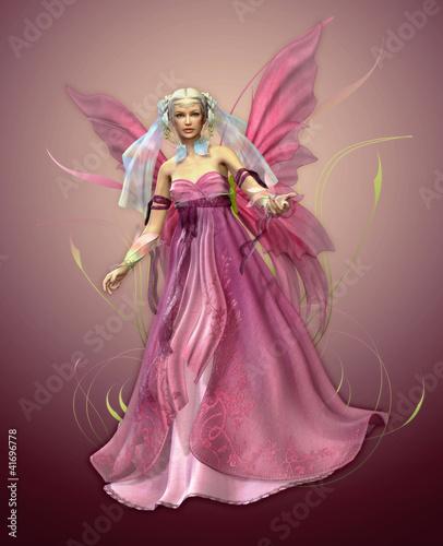 La pose en embrasure Fées, elfes Pink Magic