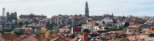 Panorama of Worn out houses, Porto, Portugal