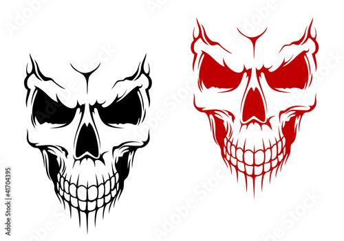 Smiling skull Canvas Print