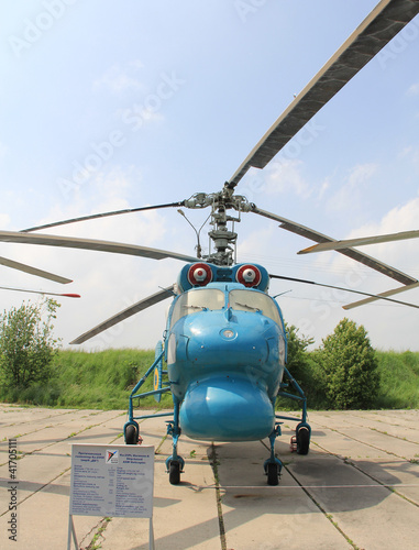 Tuinposter Helicopter KIEV, UKRAINE- MAY 16: Ka-25 at State Aviation Museum