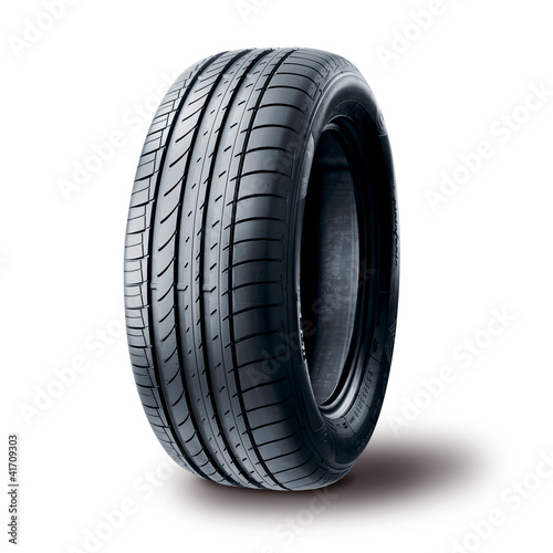 Fényképezés  Summer tire on white background