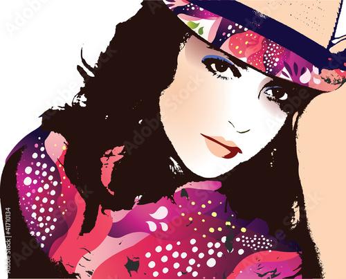 ilustracja-moda-kobieta-portret-wektor