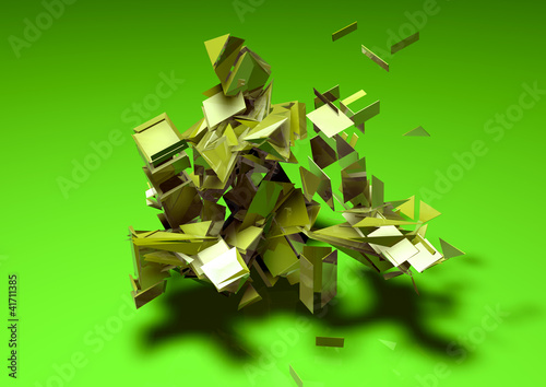 Fotografie, Obraz  geometry explosion abstract background pattern