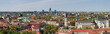 City panoramic view - old and new Vilnius