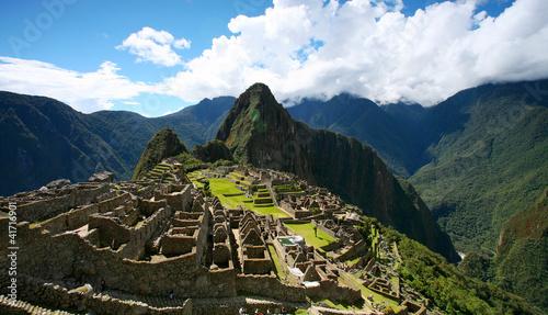 Machu Picchu Top View Wallpaper Mural