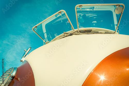 Photo  retro styled split-screen camper-van