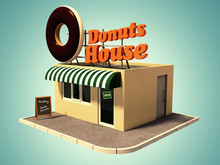 Vintage Icon Donuts House