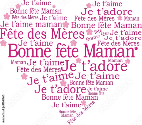 Bonne Fête Maman Buy This Stock Vector And Explore Similar