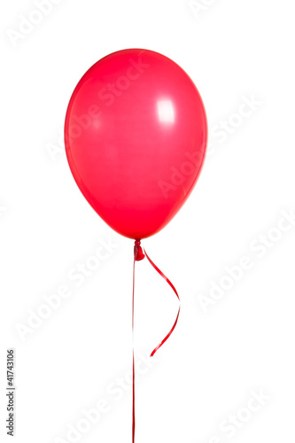 Papiers peints Montgolfière / Dirigeable red balloon isolated on white