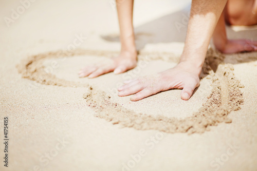 Foto-Rollo - Young beautiful caucasian couple on the beach
