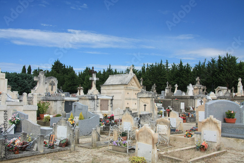 Papiers peints Cimetiere Old cemetery in the Provence, France