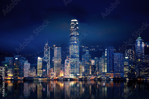 Hong Kong Lights Wallpaper Mural