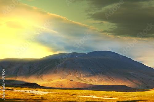 In de dag Zwavel geel Prairie