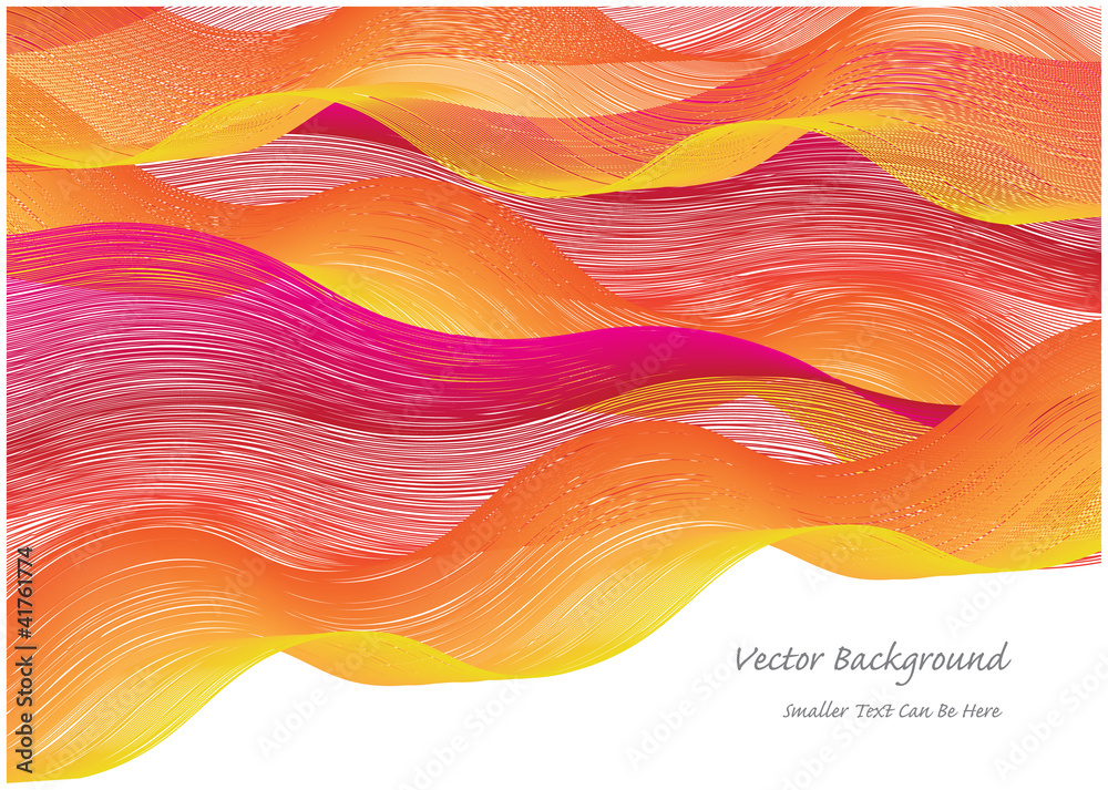Fotografía  abstract vector background with colorful waves