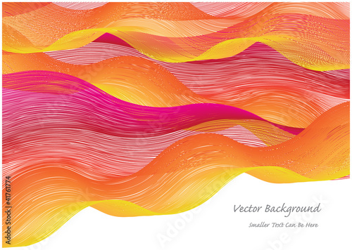 Pinturas sobre lienzo  abstract vector background with colorful waves